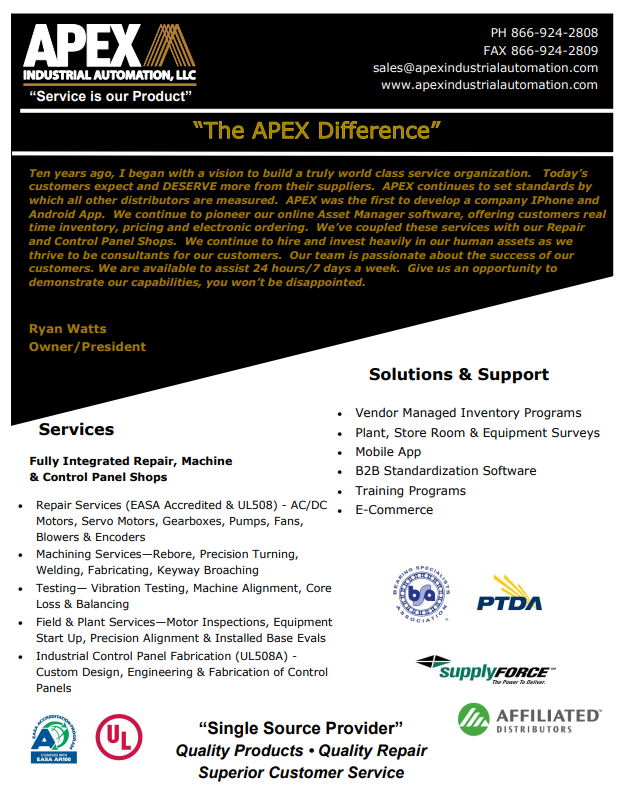 APEX PRODUCTS & SERVICES